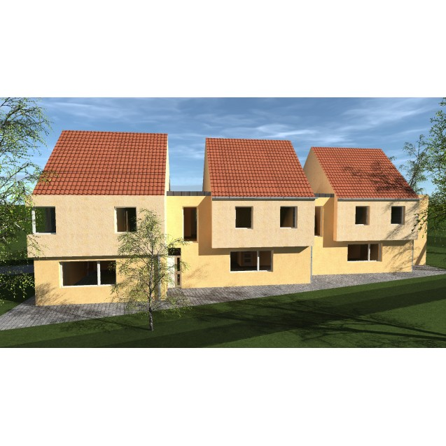 Újépítésű projekt! 3 lakóegységből álló sorházi ingatlan eladó. 68 m. Ft-tól